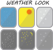 Weathers look from window Stock Photography