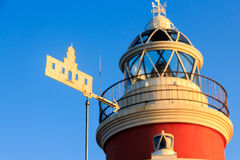 Weathervane, φάρος Salou Στοκ φωτογραφίες με δικαίωμα ελεύθερης χρήσης