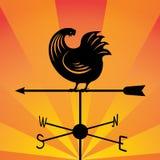 Weathervane - бежать петух 6 Стоковое Изображение