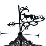 Weathervane с диаграммой Fox символ Surgut и надписи стоковые изображения rf