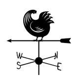 Weathervane - черный ход rooster3 Стоковые Фото