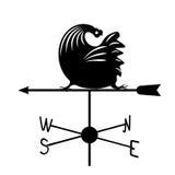 Weathervane - черный ход rooster2 Стоковое Изображение