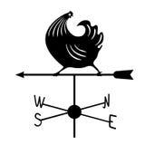Weathervane - черный ход rooster1 Стоковые Изображения