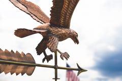 weathervane amerykańskiego orła Zdjęcia Stock