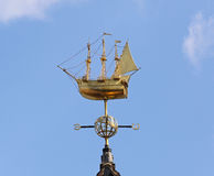 Weathervane boat Royalty Free Stock Images