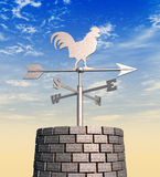 Weathervane Cockerel Chimney Day Royalty Free Stock Photos