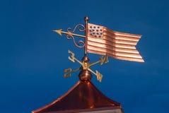Weathervane de cobre da bandeira dos Estados Unidos Foto de Stock Royalty Free