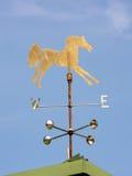 Weathervane del cavallo Fotografie Stock