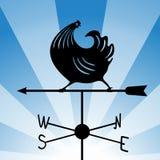 Weathervane - het lopen haan 4 Royalty-vrije Stock Afbeeldingen