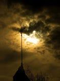 Weathervane nella luce della luna Fotografia Stock Libera da Diritti