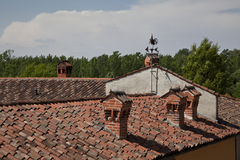 Weathervane on the roof Stock Image