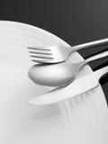 weave вектора плиток скатерти ложки силуэтов установки ресторана имеющейся плиты места меню ножа холстинки вилки еды конструкции  Стоковое Изображение