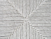 Weave 1A. Triangular woven pattern in white Stock Image