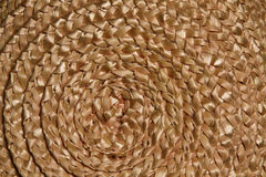 Текстура weave оплетки корзины плетеная, предпосылка макроса соломы круга Стоковое Изображение RF