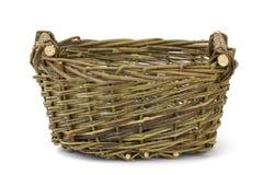 Корзина винтажного weave плетеная Стоковое Изображение RF
