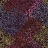 Предпосылка лоскутного одеяла ткани Weave красочная безшовная Стоковое Изображение RF