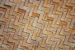 Старая бамбуковая текстура циновки weave Стоковая Фотография
