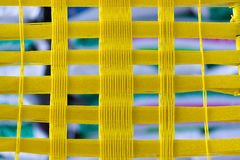 Weave amarelo da corda Fotos de Stock Royalty Free