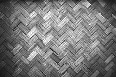 Weave bamboo background. Texture of weave bamboo background,Yellow wicker background. Surface texture in black and white tone Royalty Free Stock Images