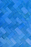 Weave bamboo texture blue color Royalty Free Stock Image