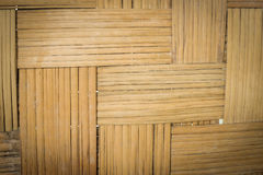 Weave bamboo texture. Weave brown bamboo texture close up Royalty Free Stock Photography