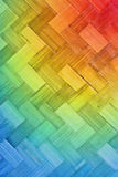 Weave bamboo texture multi color Royalty Free Stock Photography