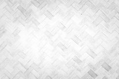Weave bamboo wall texture. Background white color Royalty Free Stock Images