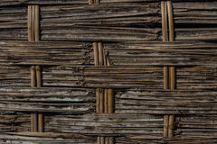 Weave bamboo. Wooden panel used to be fence Stock Image