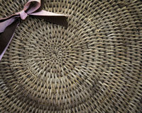 Weave basket background with light shinning through Royalty Free Stock Images