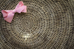 Weave basket background with light shinning through Royalty Free Stock Image