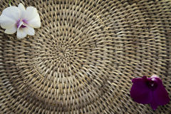 Weave basket background with light shinning through Stock Photography
