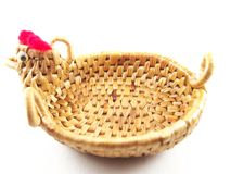 Weave basket, dried water hyacinth Stock Image