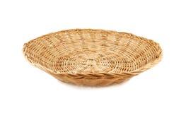 Weave basket on white background. Flat weave basket on white background royalty free stock photos