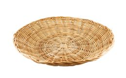 Weave basket on white background. Flat weave basket on white background stock images