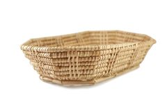 Weave basket on white background royalty free stock image