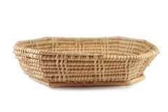 Weave basket on white background royalty free stock images