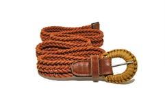 Weave belt on white background Stock Photo