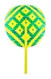 Weave colorful fan- Thai native fan Stock Images