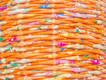 Weave of colorful recycle paper Royalty Free Stock Photo