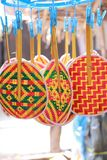 Weave colorful thai fan Royalty Free Stock Image