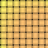 Weave de cesta dourado Imagem de Stock Royalty Free