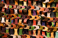 Weave de couro colorido Foto de Stock Royalty Free