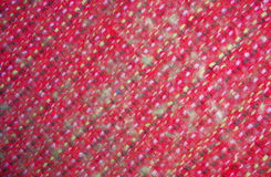 The weave of fabric closeup. The weave multicolored threads of fabric closeup Stock Images