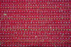 The weave of fabric closeup. The weave multicolored threads of fabric closeup Stock Photos