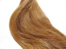 Weave of gingery hair Stock Photo