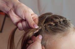 Weave girls braids Royalty Free Stock Image