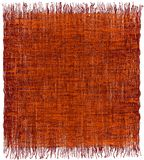 Weave grunge striped interlaced carpet with fringe in orange,brown. Weave grunge striped interlaced rectangular  carpet with fringe in orange,brown colors Stock Photography