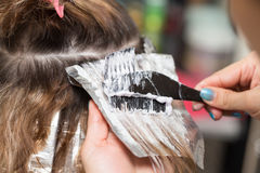 Weave hair in a beauty salon Royalty Free Stock Photography
