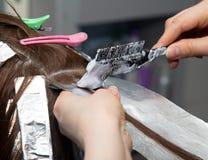 Weave hair in salon. Photos in the studio Stock Image