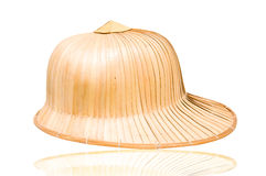 Weave hat. Brown weaving hat Royalty Free Stock Photo